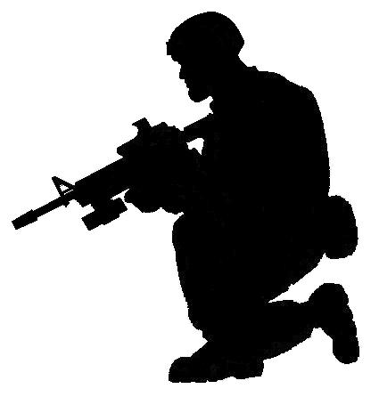 425x455 Soldier Silhouette Png