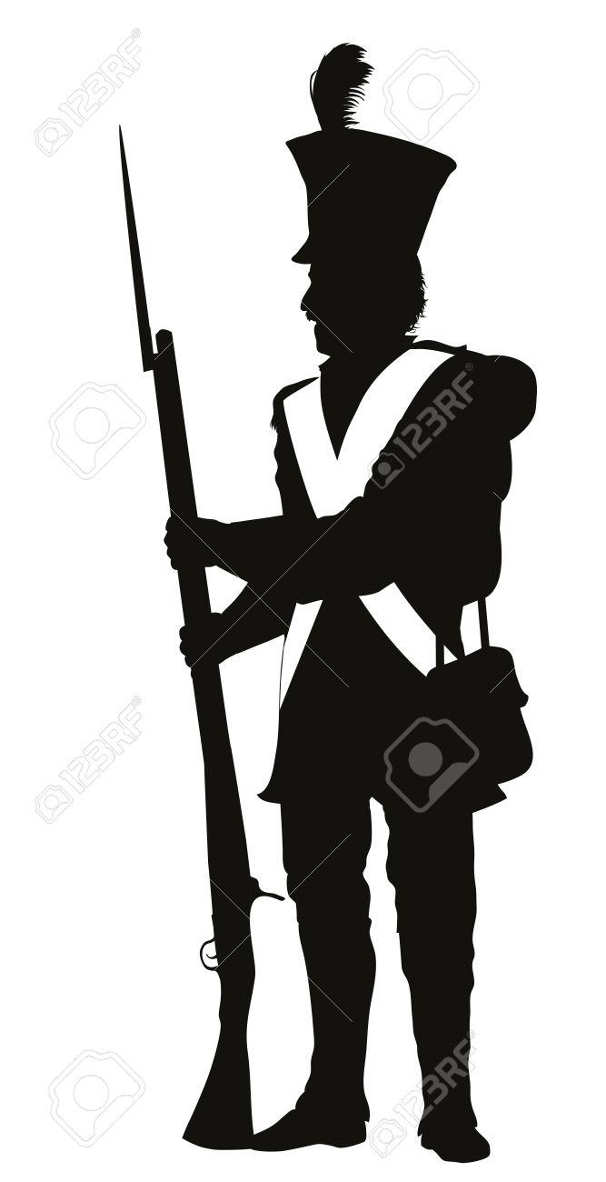667x1300 War Clipart Soldier Silhouette