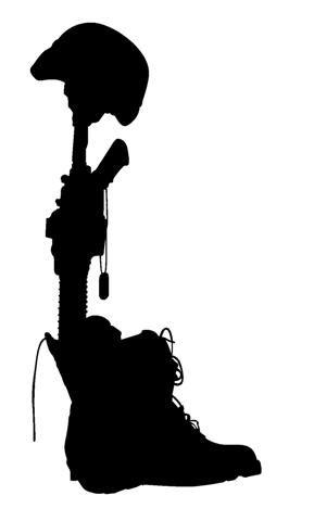 289x480 Fallen Soldier Symbol Silhouette