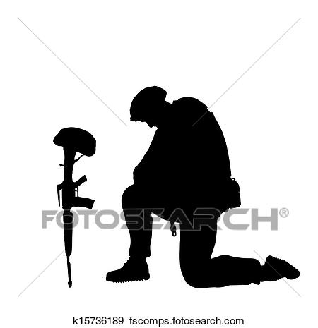 soldier praying silhouette at getdrawings com free for personal