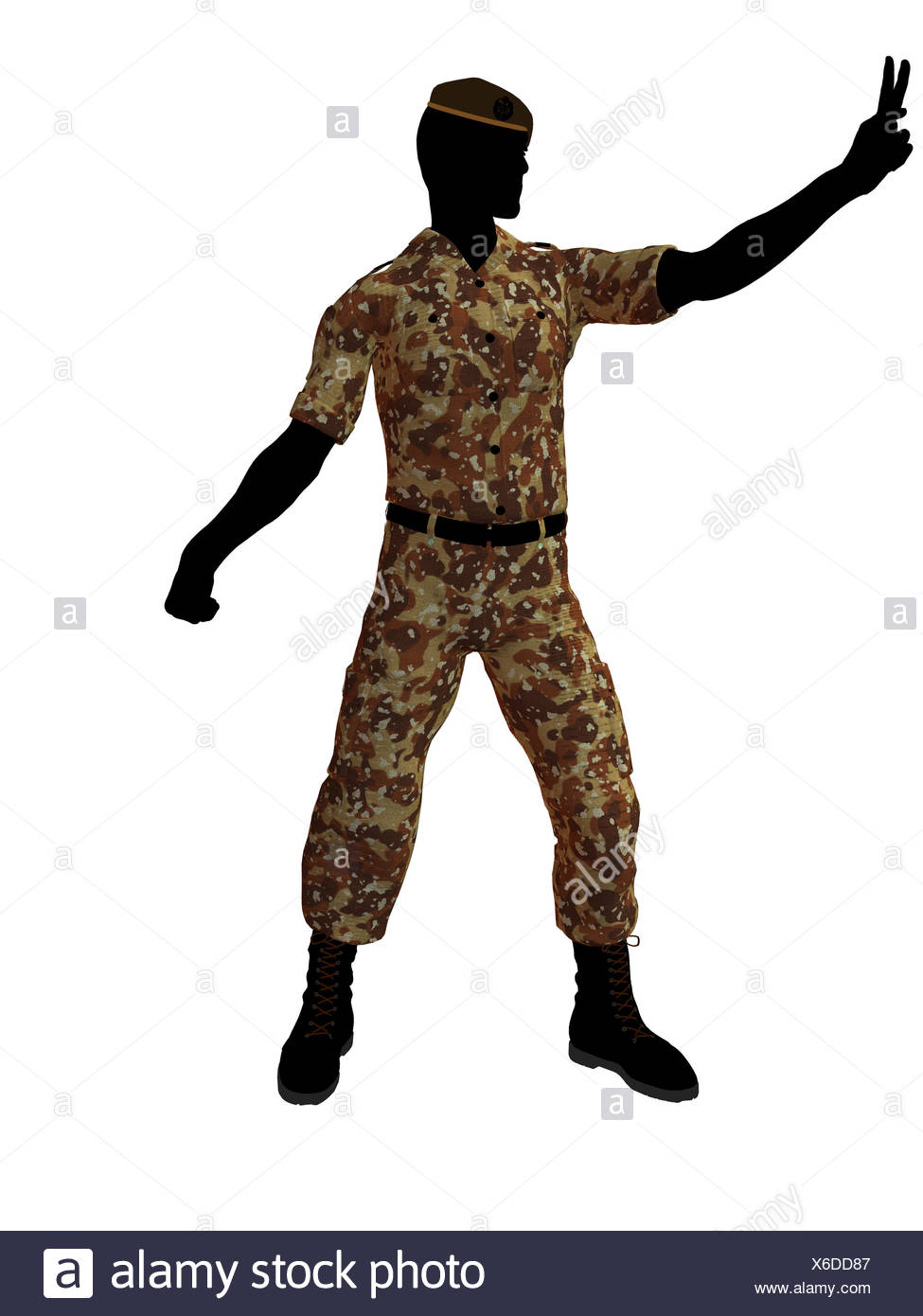 975x1390 Soldier Silhouette Beret Stock Photos Amp Soldier Silhouette Beret