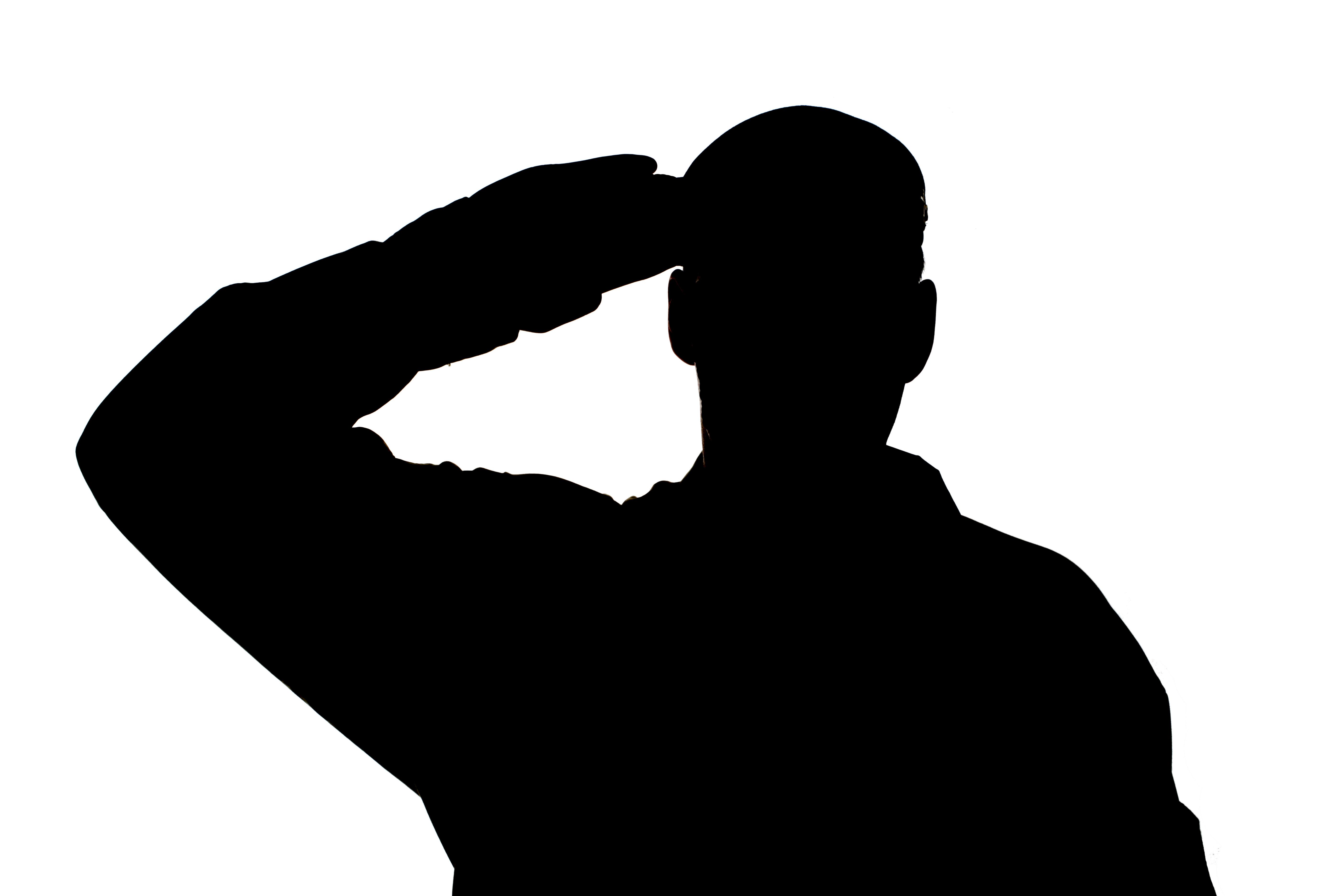 amerikanischer soldat saluting