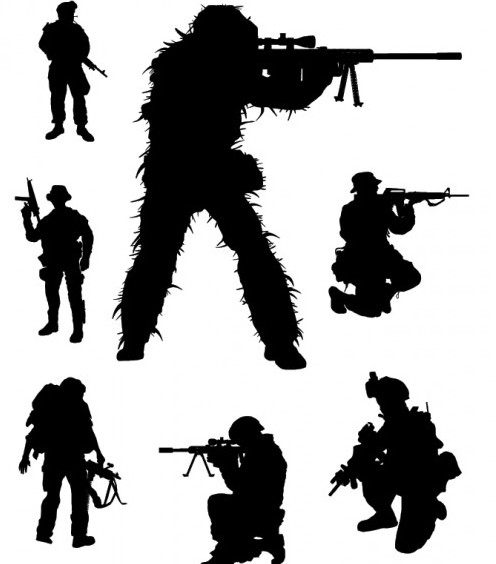 496x564 Vector Soldier Silhouettes Free Vector Download 202115 Cannypic