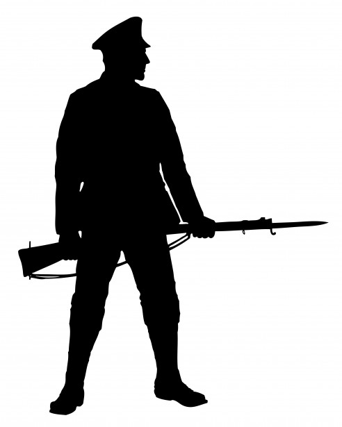 492x615 Soldier With Rifle Clipart Free Stock Photo