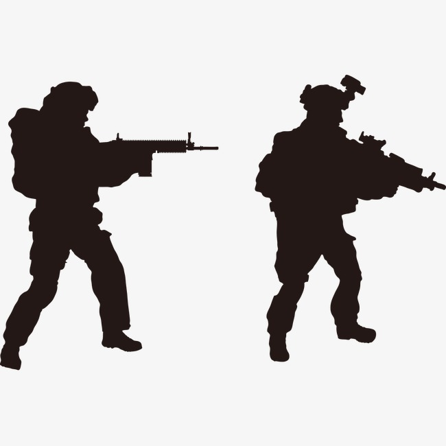 650x650 Interpol Silhouette Material, Armed Silhouette, Soldier, Officer