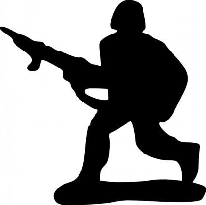 Soldier Silhouette Saluting