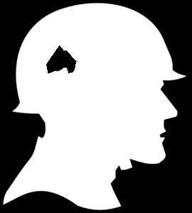 270x299 Soldier Outline Clip Art