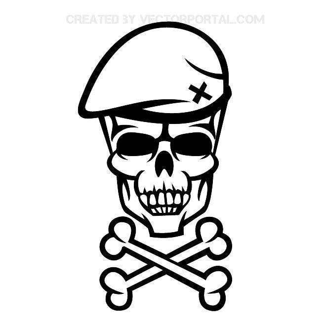 660x660 Soldier Skull Illustration Free Vector 123freevectors