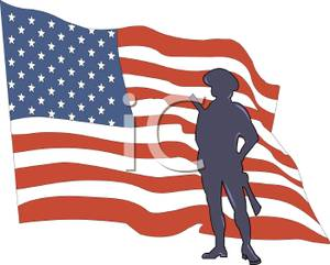 300x241 Image Silhouette Of A Soldier And The American Flag