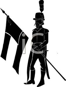 227x300 Silhouette Of A Armed Forces Soldier With A Flag