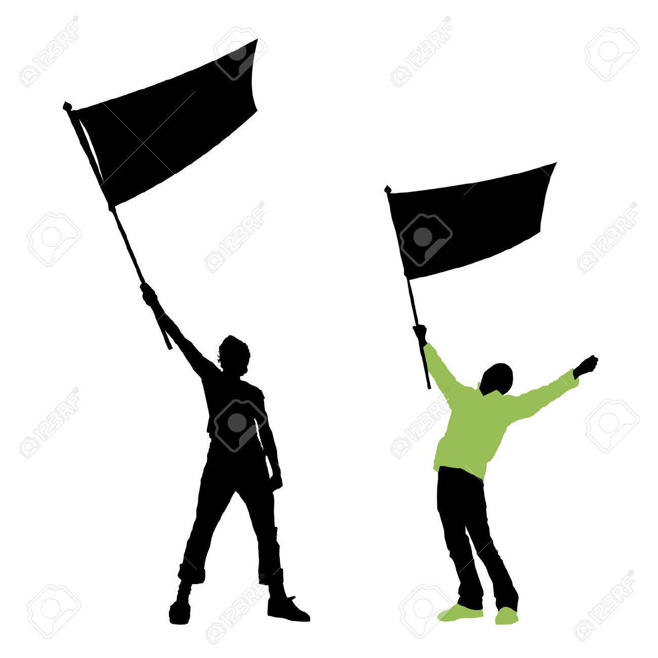 1300x1300 Clipart Person Holding A Flag
