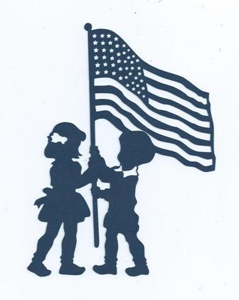 336x422 Children Raising The Flag Silhouette By Hilemanhouse On Etsy