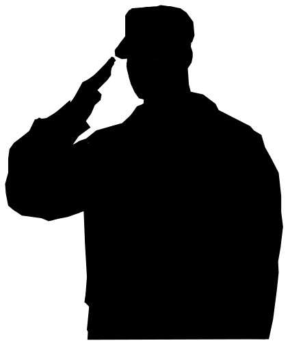 424x500 Army Soldier Silhouette Clipart