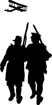 213x425 World War I Silhouette Clip Art Vector, Free Vector Images