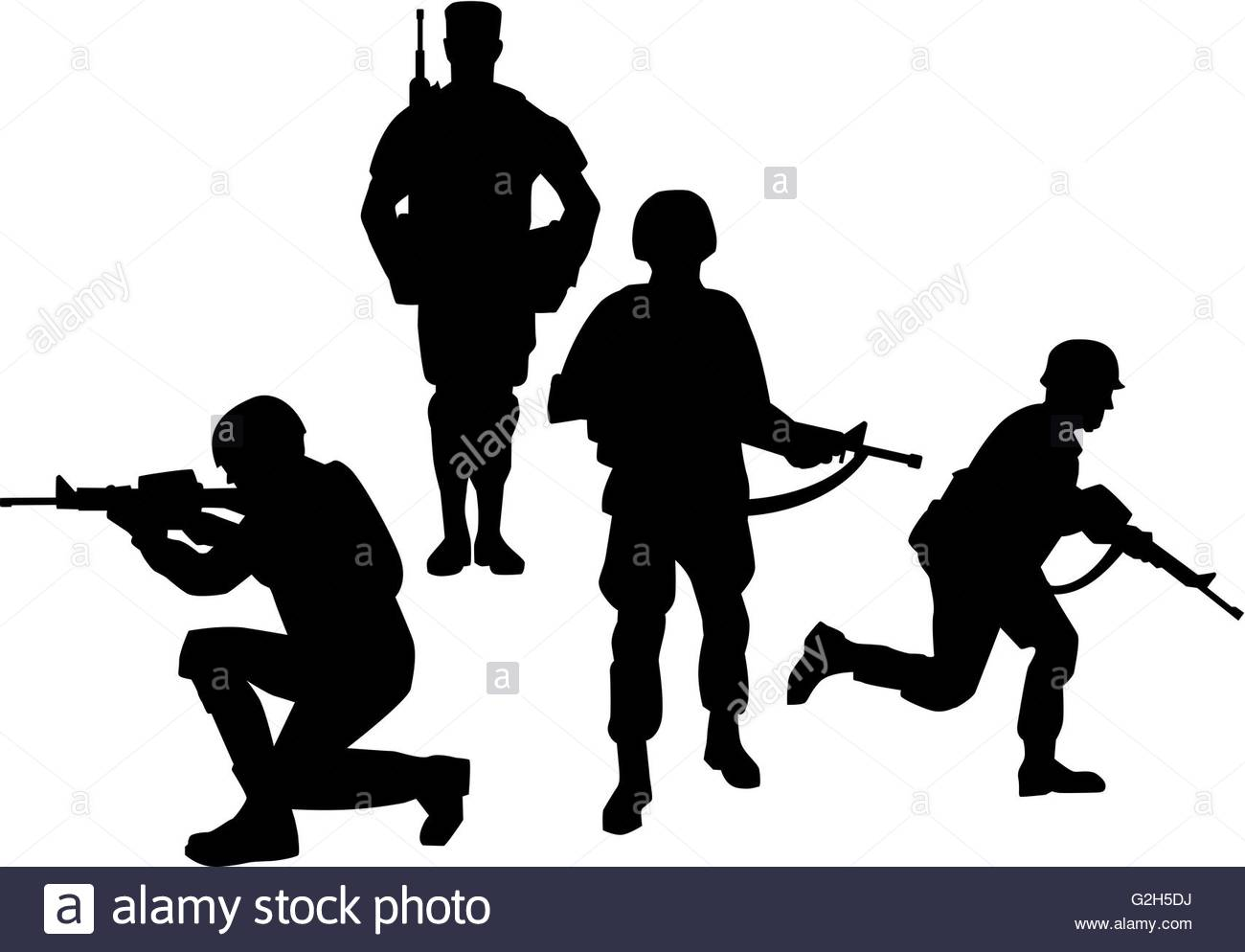 1300x994 Army Soldier Silhouette Black And White Stock Photos Amp Images