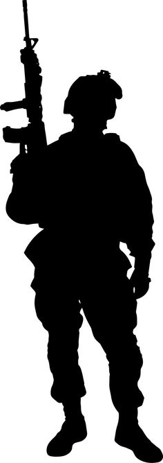 236x668 Military Silhouettes Free Graphics Clipart 12368 Soldier Salute
