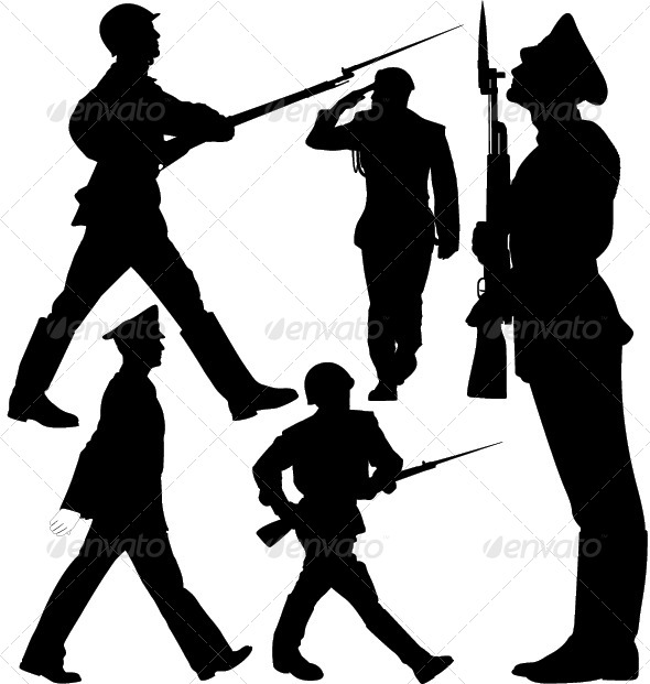 590x621 Parade, Soldiers Marching, Sentry Guard Silhouette By Only4denn