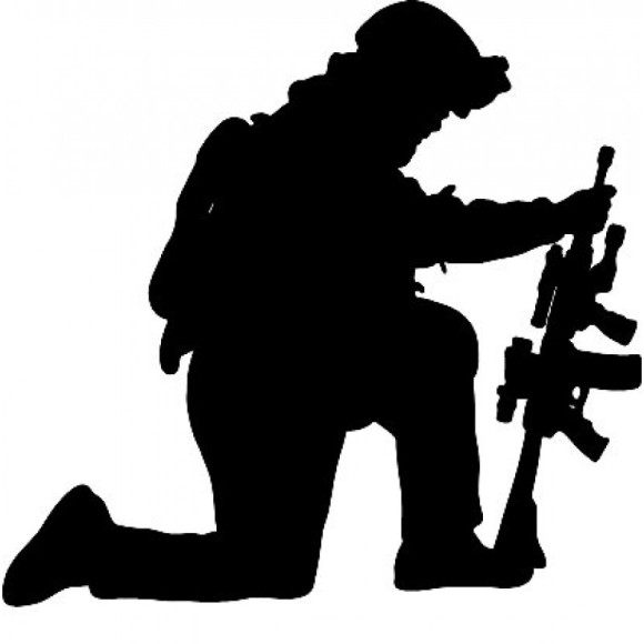 580x580 Kneeling Soldier Clipart