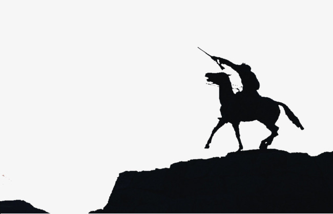650x418 Horseback Soldier Silhouettes, Horse Riding, Soldier, Sketch Png