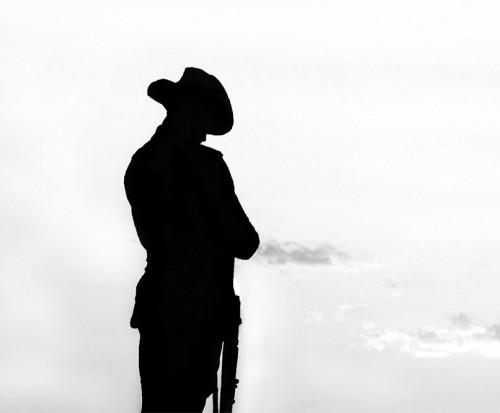 500x413 War Clipart Anzac Soldier
