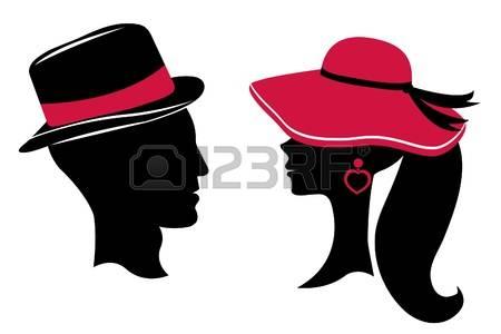 450x300 Silueta De Mujer Con Sombrero Hombre Y Mujer Siluetas De La