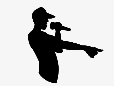 444x333 Silhouette, Black, Sing A Song Png Image And Clipart For Free Download
