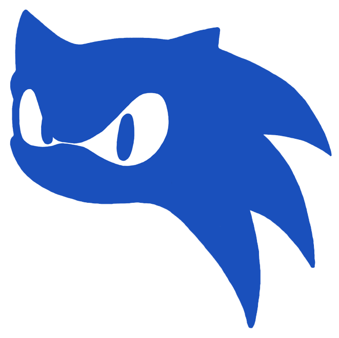 661x660 Sonic Head Silhouette By Samsonic