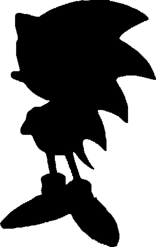 506x800 Classic Sonic Silhouette 2 Stickers By 4xult Redbubble
