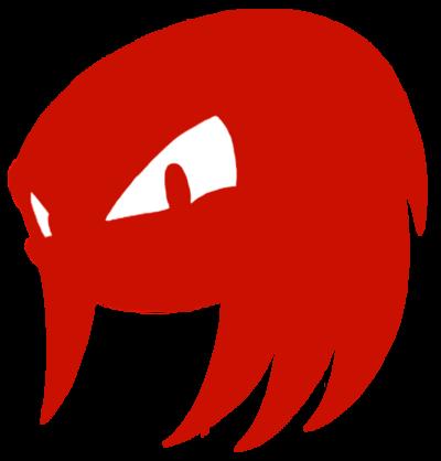 400x418 Knuckles Head Silhouette By Samsonic