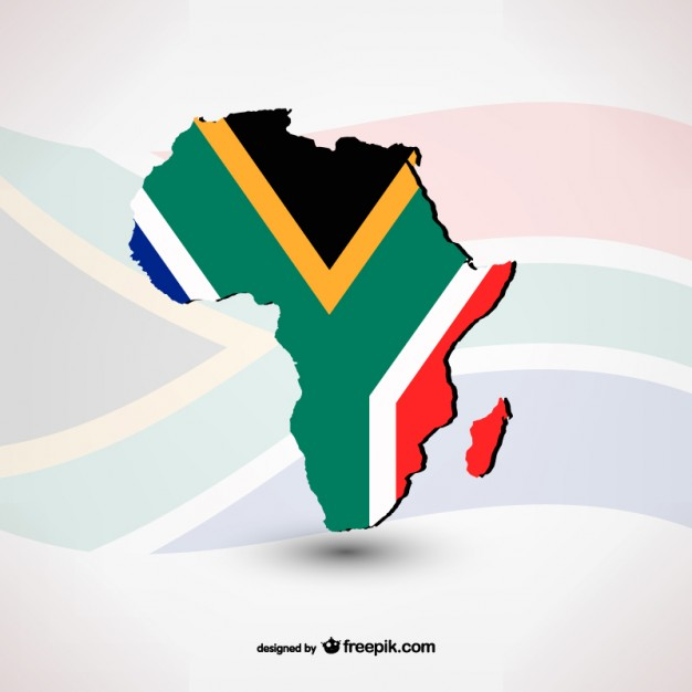 626x626 South African Flag With Silhouette Vector Free Download
