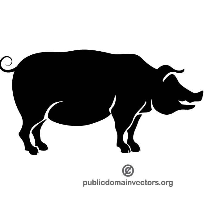 660x660 Silhouette Of A Pig