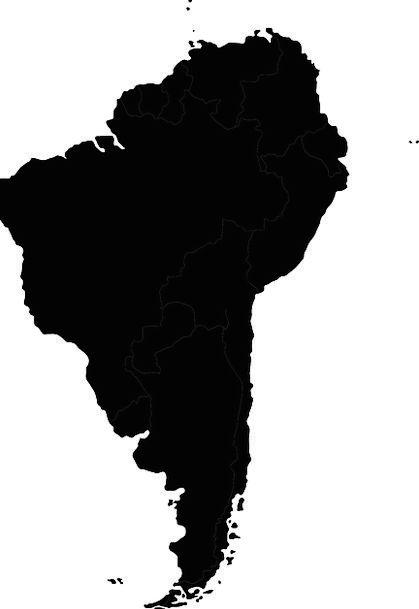 419x609 South America, Chart, Continent, Landmass, Map, Cartography