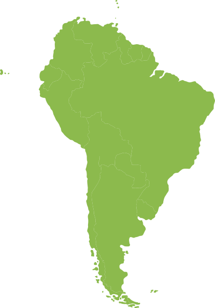 420x599 Continent Of South America Green Clip Art