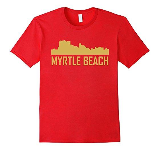 562x526 Myrtle Beach South Carolina Skyline Silhouette T Shirt