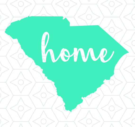 570x538 State Of South Carolina Home Decal Design, Svg, Dxf, Eps Vector