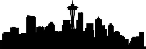 600x204 Seattle Skyline Cityscape Vinyl Wall Art Mural Maddie Boy