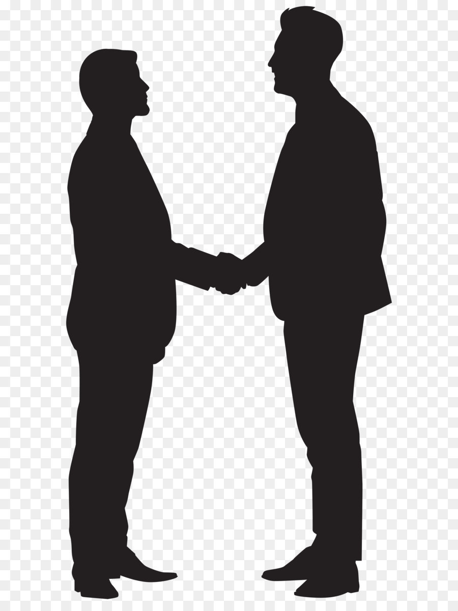 900x1200 Silhouette Handshake Clip Art