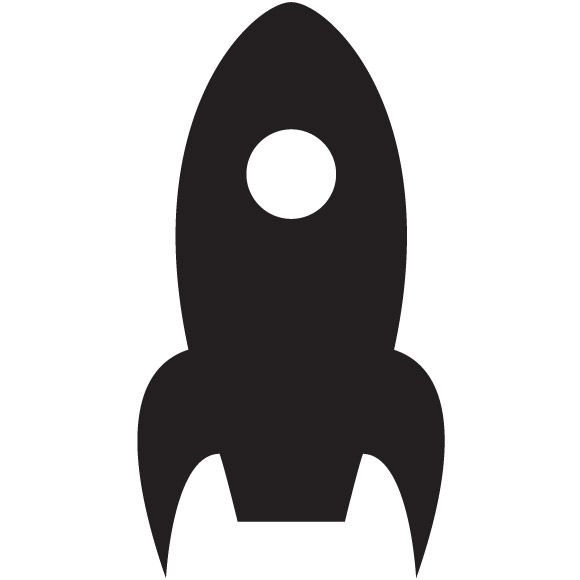 580x580 Rocket Ship Silhouette