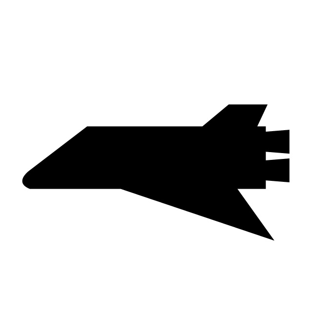640x640 Spaceship Space Shuttle Free Icon Mark Illustration