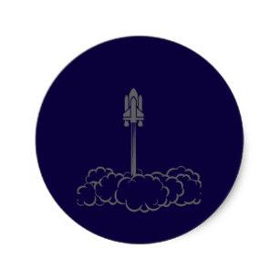 307x307 Silhouette Ship Stickers Zazzle