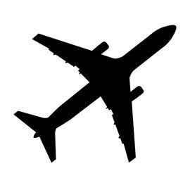 270x270 Airplane Silhouette Stencil D Silhouette