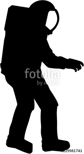 274x500 Astronaut Silhouette Stock Image And Royalty Free Vector Files