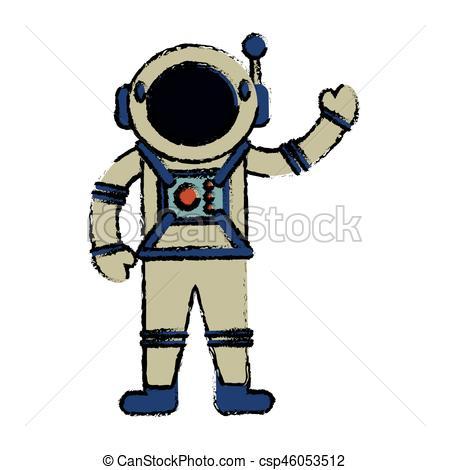 450x470 Astronaut Suit Spaceman Image Vector Illustration Eps 10 Vector