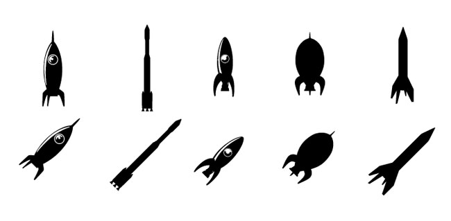 650x319 Rocket Clipart Silhouette
