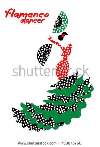 321x470 Flamenco Dancer, Silhouette Beautiful Spanish Woman In Long Dress