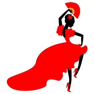 300x300 Lady Flamenco Dancer Clipart, Cliparts Of Lady Flamenco Dancer