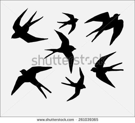 450x410 Swallow Bird Silhouette Cea Poster Circles Swallow