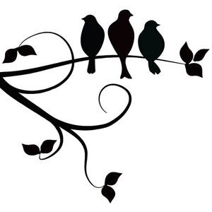 300x300 Three Birds On A Branch. I Love The Simplicity Of This Design, But