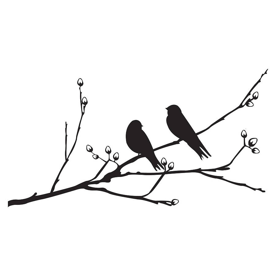 900x900 Two Birds Silhouette Clipart