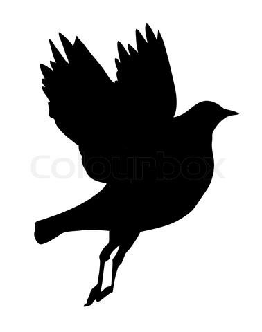 378x480 Elegant Flying Bird Silhouette Tattoo Design